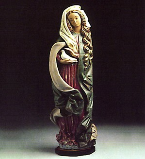 Lladro-Madonna With Dove 1977-83