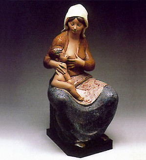 Lladro-Mother Feeding Baby 1981-85