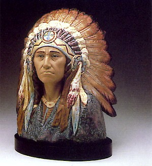 Lladro-Indian Chief 1983-88