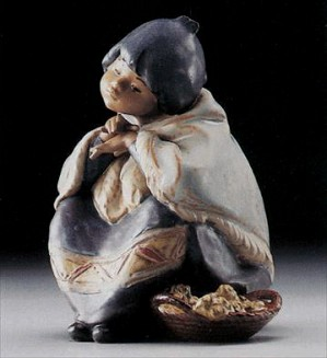 Lladro-Oriental Flower Vendor 1985-94 ***