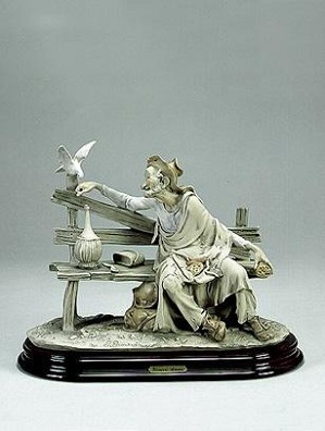 Giuseppe Armani-Tramp Feeding Dove