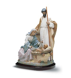 Lladro-A King Is Born     With Base