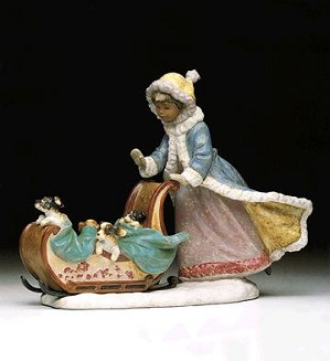 Lladro-Playful Push 1992-2000