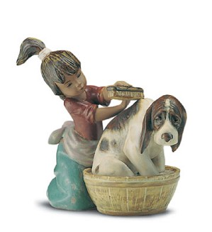Lladro-Bashful Bather 1994-2001