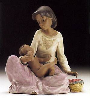 Lladro-Dressing The Baby 1994-97