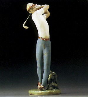 Lladro-Golfer On The Green 1995-00