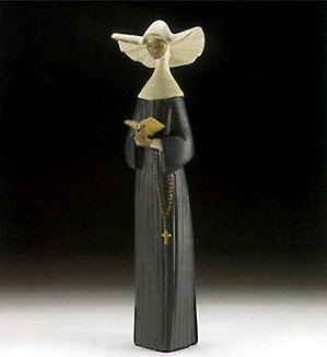 Lladro-A Prayful Moment (blue) 1996-99