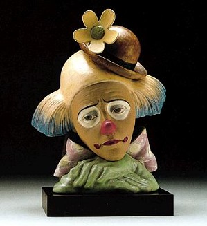 Lladro-Clown With Bowler Hat 1996-99