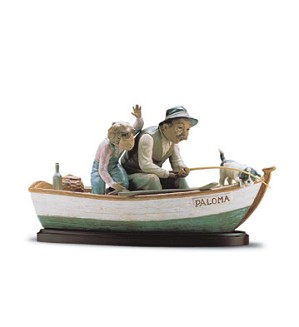 Lladro-Fishing With Gramps 1996-2001
