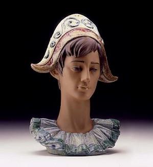 Lladro-Pensive Harlequin Head 1997-99***