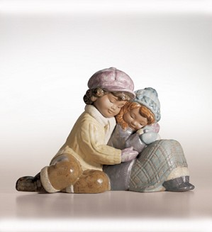 Retired Lladro-A Sweet Gesture