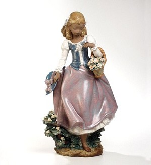 Retired Lladro-Winds Of Springtime