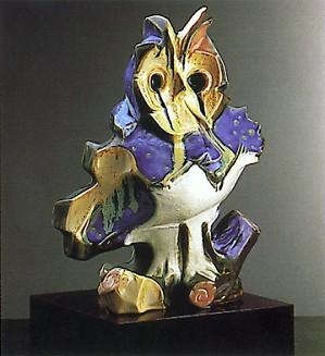 Lladro-Owl (blue) Le400 1986-88