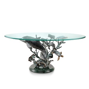 SPI Sculptures-Dolphin Seaworld Coffee Table
