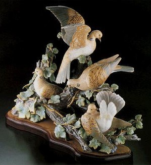 Lladro-Turtle Dove Group Le750 1980-98