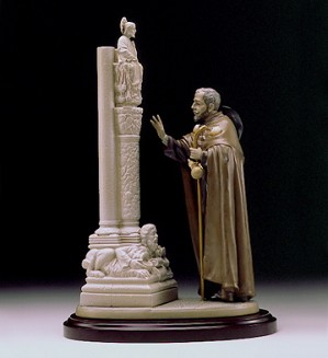 Lladro-The Pilgrim At Santiago Le1000 1999-00