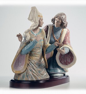 Retired Lladro-The Lovers Of Verona le500 2002-04