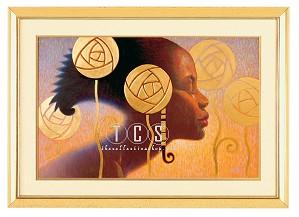 Ebony Visions-Ebony Visions Canvas Transfer Framed