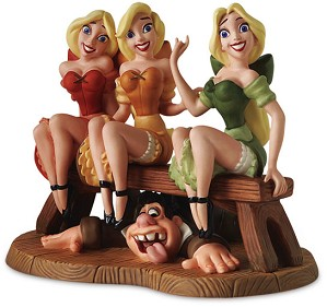 WDCC Disney Classics-Village Girls & LeFou Sitting Pretty From Beauty and The Beast