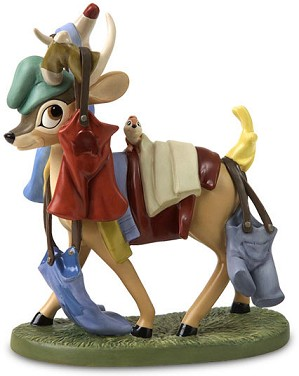 WDCC Disney Classics-Snow White Deer With Laundry Spring Cleaning