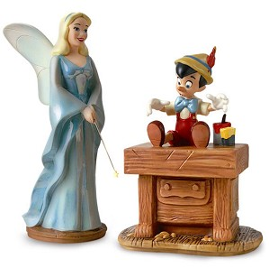 WDCC Disney Classics-Pinocchio Blue Fairy And Pinocchio The Gift Of Life Is Thine