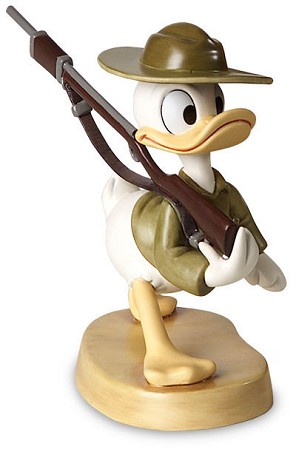 WDCC Disney Classics-Donald Duck Basic Training Donald Gets Drafted