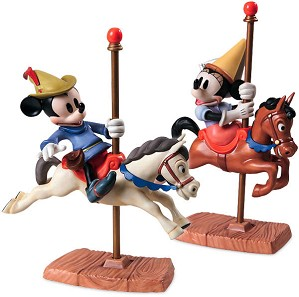 WDCC Disney Classics-Brave Little Taylor Mickey And Minnie Mouse Carousel Sweethearts