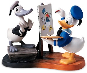 WDCC Disney Classics-Then And Now Donald Duck Then And Now