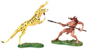 WDCC Disney Classics-Tarzan And Sabor Untamed