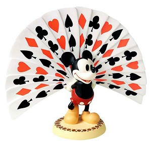 WDCC Disney Classics-Thru The Mirror Mickey Mouse Playing Card Plumage