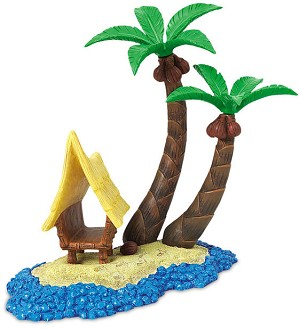 WDCC Disney Classics-Finding Nemo Base  Tank Tiki Hut Accessory