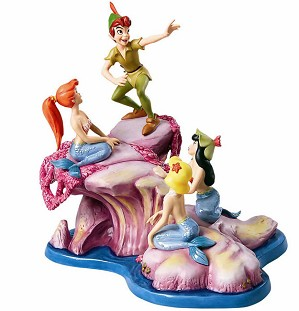 WDCC Disney Classics-Peter Pan And The Mermaids Spinning A Spellbinding Story