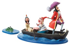 WDCC Disney Classics-Captain Hook, Mr. Smee, Tiger Lily An Irresistible Lure