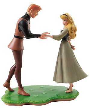 WDCC Disney Classics-Sleeping Beauty Prince Phillip And Briar Rose Chance Encounter