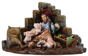WDCC Disney Classics-Pirates Of The Caribbean Pirate With Pigs Drink Up Me Earties