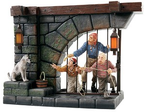 WDCC Disney Classics-Pirates Of The Caribbean Jail Scene Here Give Us The Keys Ya Scrawny Little Beast