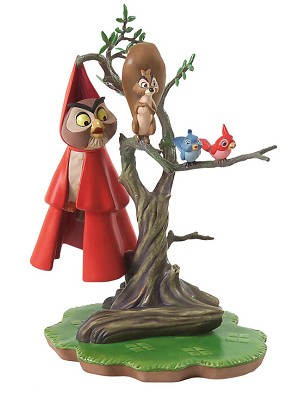 WDCC Disney Classics-Sleeping Beauty Woodland Creatures On Tree Witness To Romance