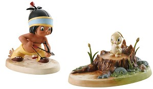 WDCC Disney Classics-Little Hiawatha And Bunny Mighty Hunter