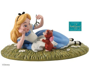 WDCC Disney Classics-Alice In Wonderland Alice And Dinah Riverbank Reverie