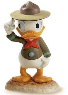 WDCC Disney Classics-Good Scouts Nephew Duck A Real Trooper