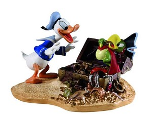 WDCC Disney Classics-Donald Duck Finds Pirate Gold Donald And Yellow Beak Pirate Gold