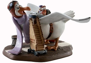 WDCC Disney Classics-The Rescuers Orville Bernard And Miss Bianca Cleared For Take Off