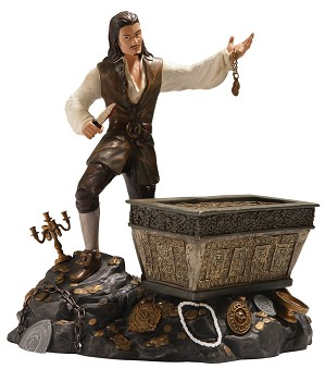 WDCC Disney Classics-Pirates Of The Caribbean Will Turner And Treasure Chest Bloodstained Bravado