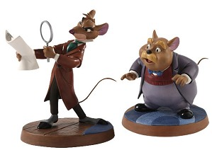 WDCC Disney Classics-The Great Mouse Detective Basail & Dr Watson Curious Clue