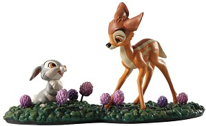 WDCC Disney Classics-Bambi Meets Thumper Just Eat The Blossoms. Thats The Good Stuff