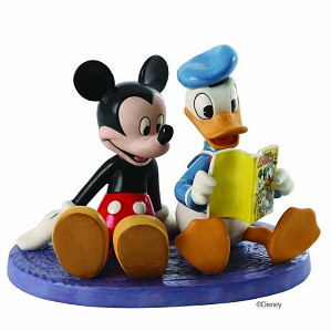 WDCC Disney Classics-Donald And Mickey Comic Book Companions