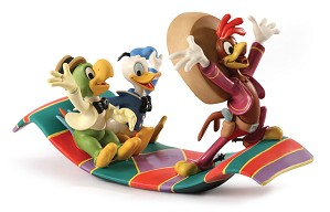 WDCC Disney Classics-Three Caballeros Panchito, Donald and Jose Airborne Amigos