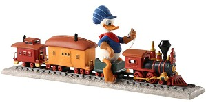 WDCC Disney Classics-Out of Scale Donald Duck on Train Backyard Whistle Stop