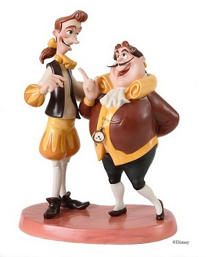 WDCC Disney Classics-Beauty And The Beast Cogsworth & Lumiere