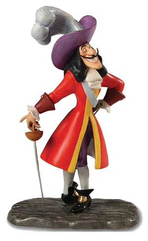 WDCC Disney Classics-Peter Pan Captain Hook Silver Tongued Scoundrel